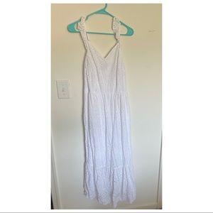 NWOT white eyelet lace midi dress